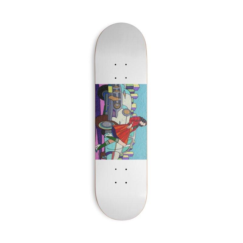 Chevy Girl by Vlado V Accessories Skateboard by We Wear Art Light