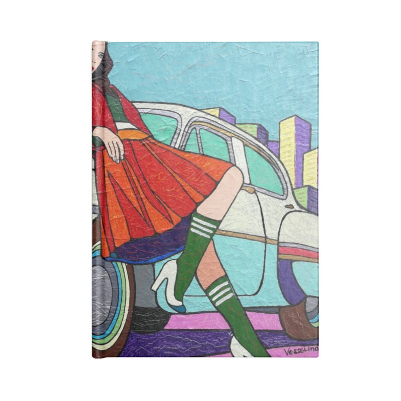 Chevy Girl by Vlado V Accessories Notebook by We Wear Art Light