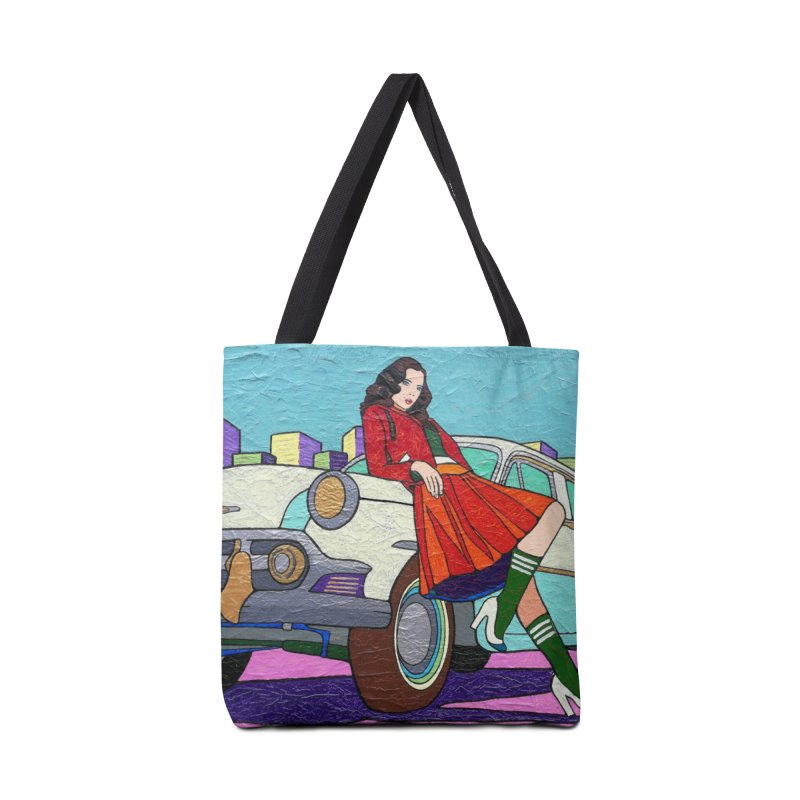 Chevy Girl by Vlado V Accessories Bag by We Wear Art Light