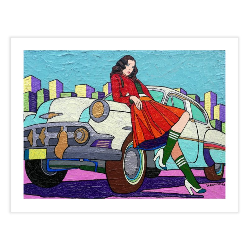 Chevy Girl by Vlado V Home Fine Art Print by We Wear Art Light