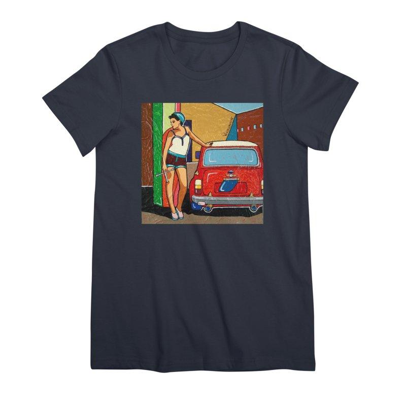 The Mini Cooper girl Women's T-Shirt by We Wear Art Light