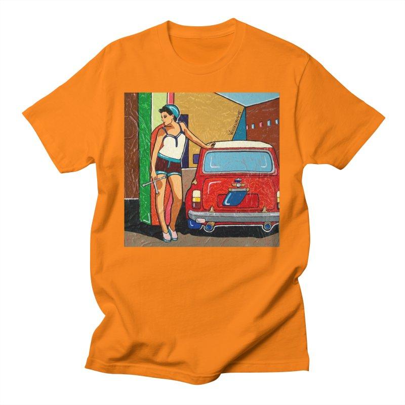 The Mini Cooper girl Men's T-Shirt by We Wear Art Light