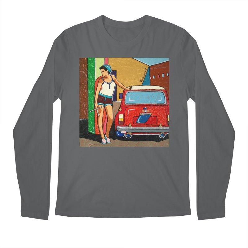 The Mini Cooper girl Men's Longsleeve T-Shirt by We Wear Art Light