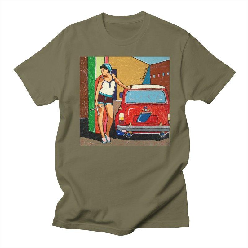 The Mini Cooper girl Men's Regular T-Shirt by We Wear Art Light