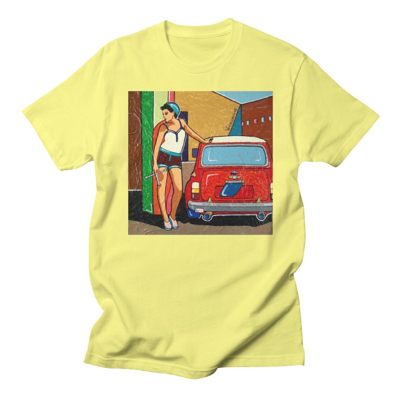 The Mini Cooper girl Men's Regular T-Shirt by We Wear Art Light