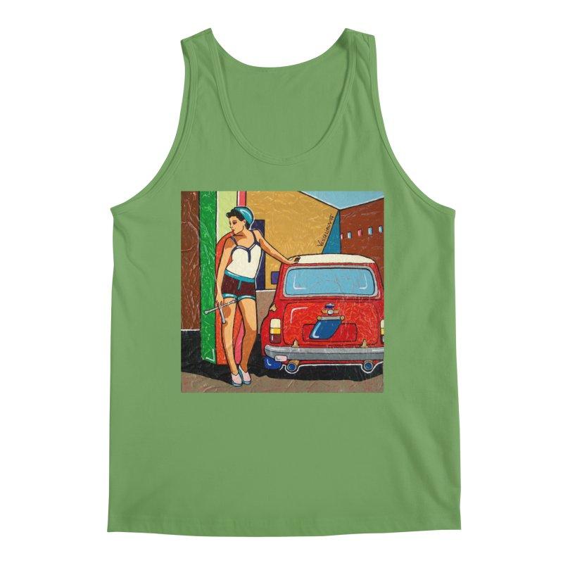 The Mini Cooper girl Men's Tank by We Wear Art Light