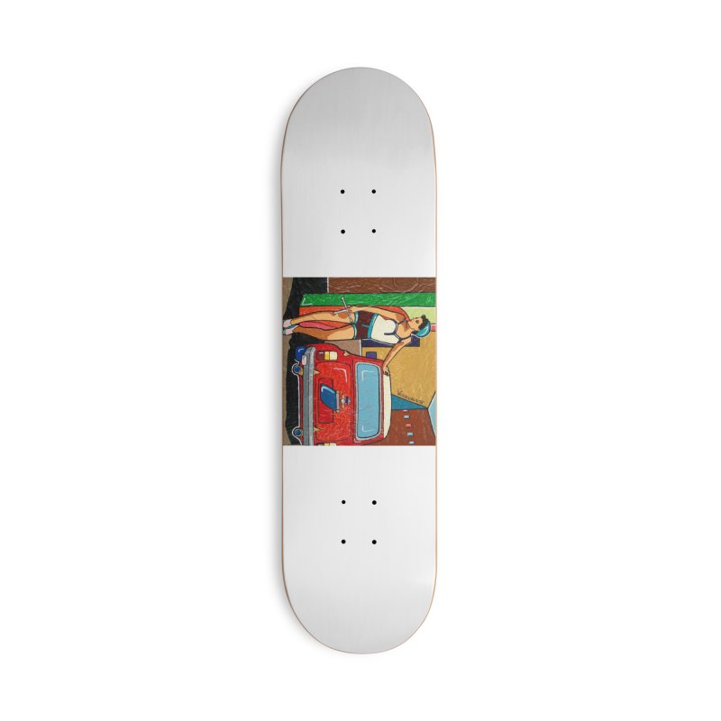 The Mini Cooper girl Accessories Skateboard by We Wear Art Light