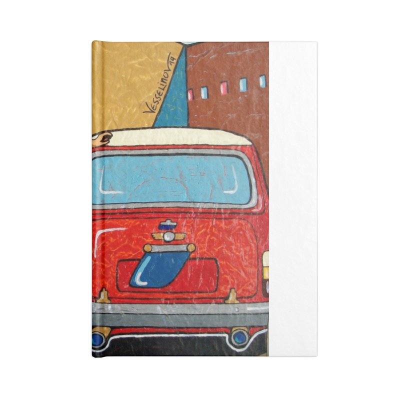 The Mini Cooper girl Accessories Notebook by We Wear Art Light