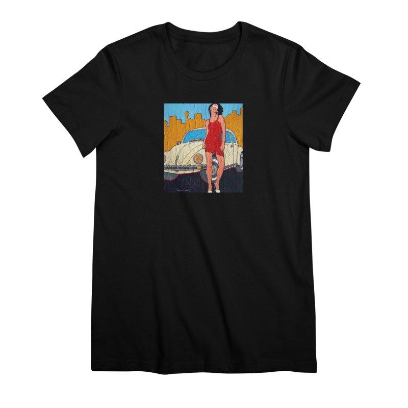 VW girl by Vlado V Women's T-Shirt by We Wear Art Light