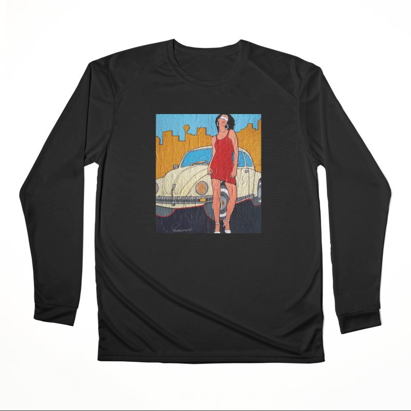 VW girl by Vlado V Women's Longsleeve T-Shirt by We Wear Art Light