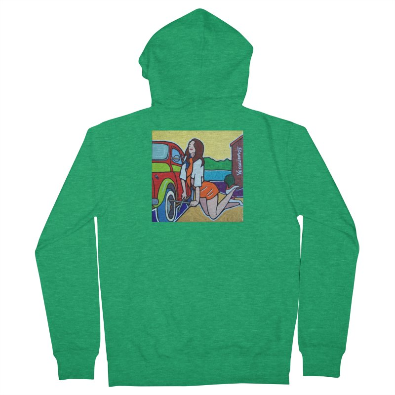 Women Power Men's Zip-Up Hoody by We Wear Art Light