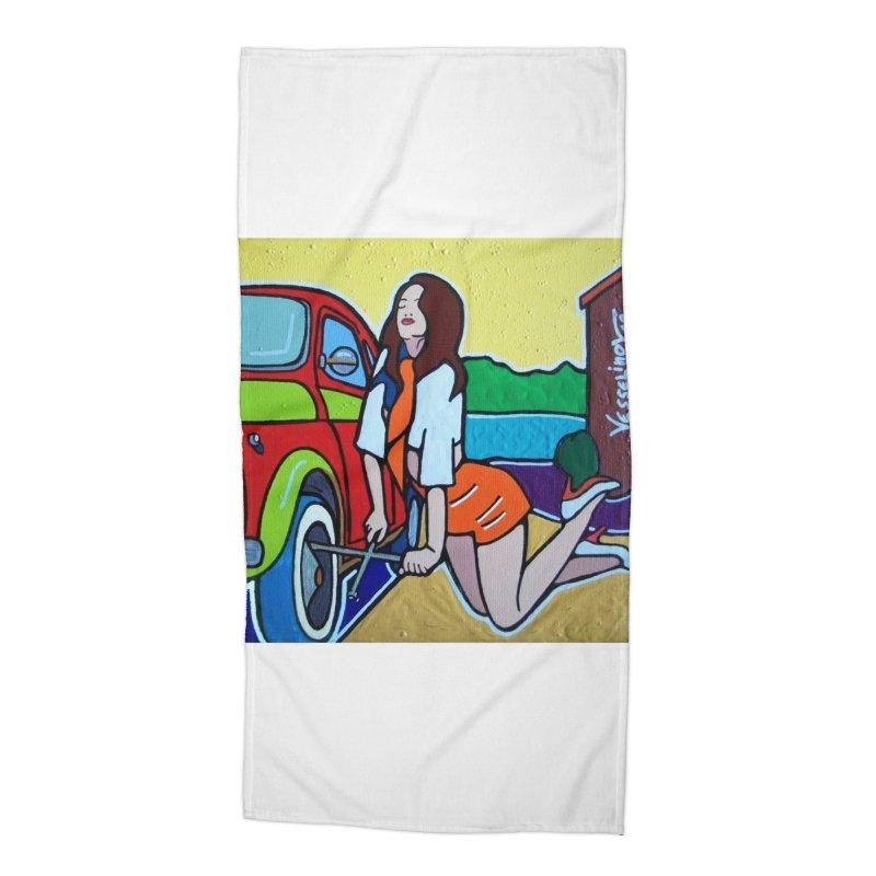Women Power Accessories Beach Towel by We Wear Art Light