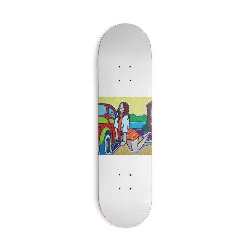 Women Power Accessories Skateboard by We Wear Art Light