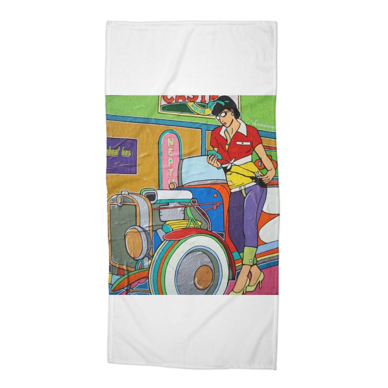 We Can Do It by Valdo V Accessories Beach Towel by We Wear Art Light