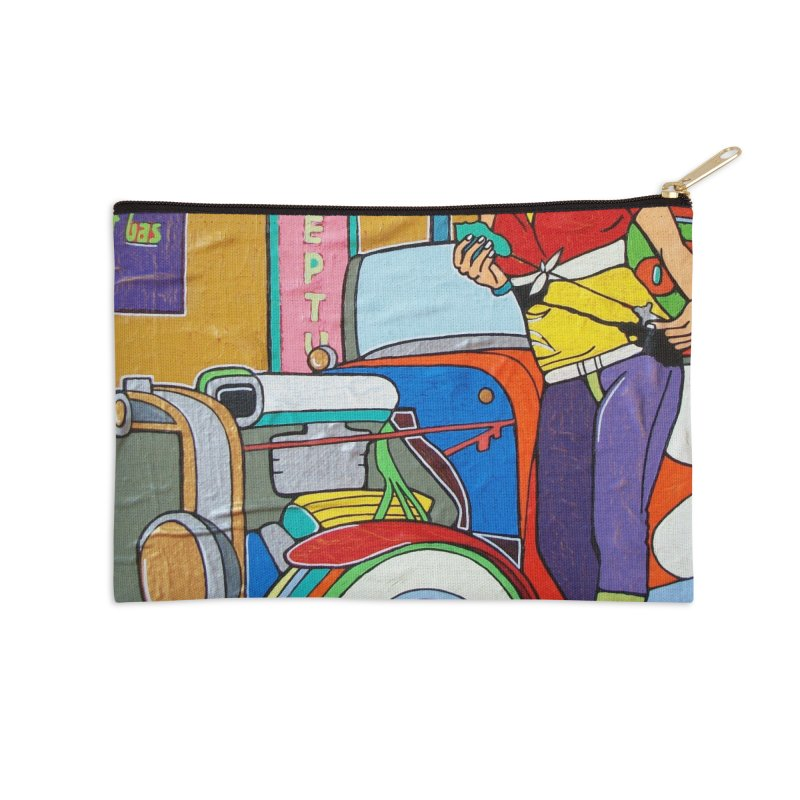 We Can Do It by Valdo V Accessories Zip Pouch by We Wear Art Light