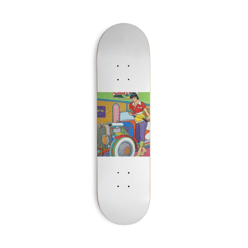 We Can Do It by Valdo V Accessories Skateboard by We Wear Art Light