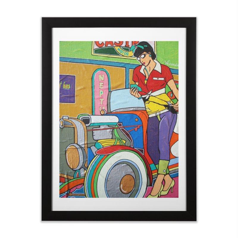 We Can Do It by Valdo V Home Framed Fine Art Print by We Wear Art Light