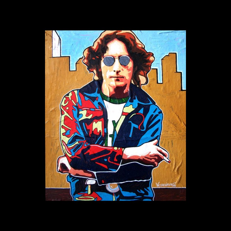 John Lennon by Vlado V Men's Longsleeve T-Shirt by We Wear Art Light
