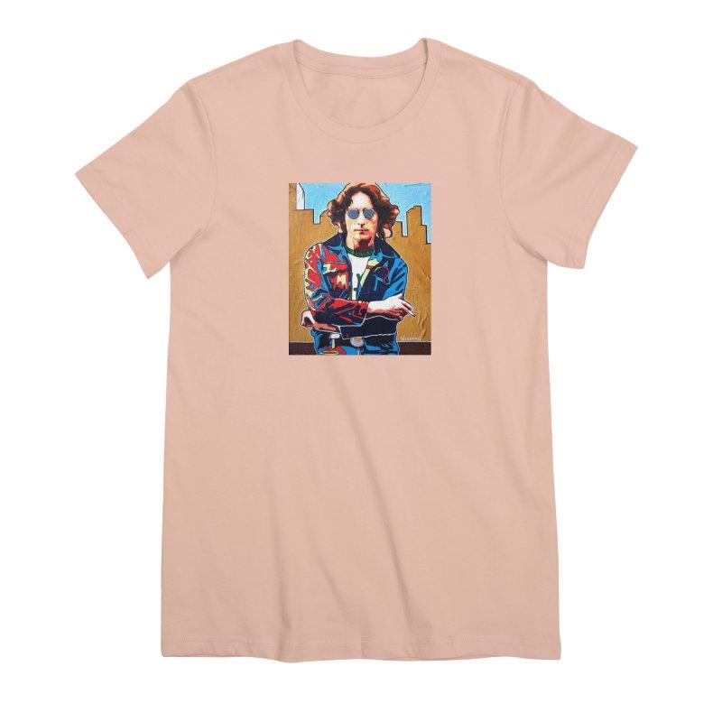 John Lennon by Vlado V Women's T-Shirt by We Wear Art Light