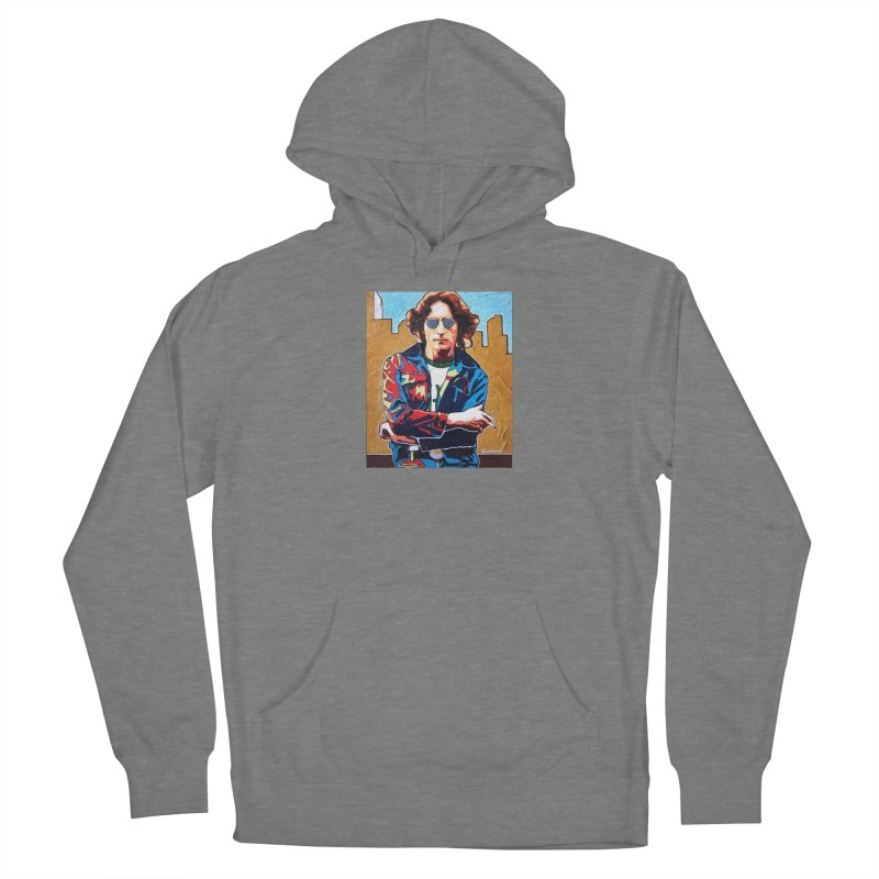 John Lennon by Vlado V Women's Pullover Hoody by We Wear Art Light