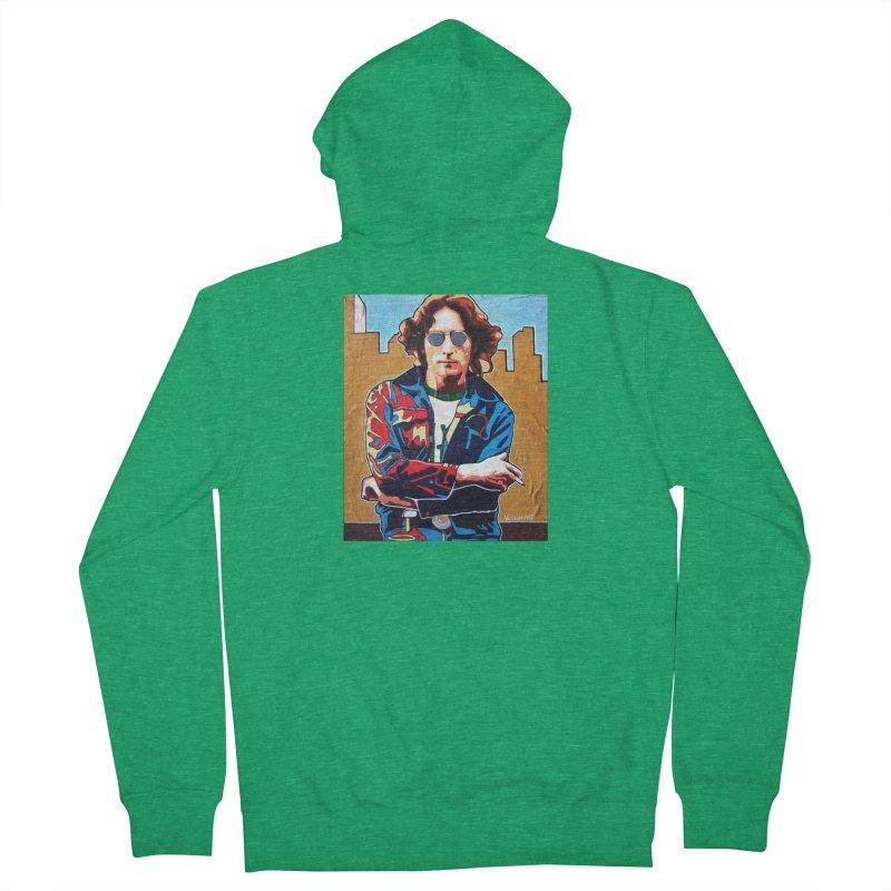 John Lennon by Vlado V Men's Zip-Up Hoody by We Wear Art Light