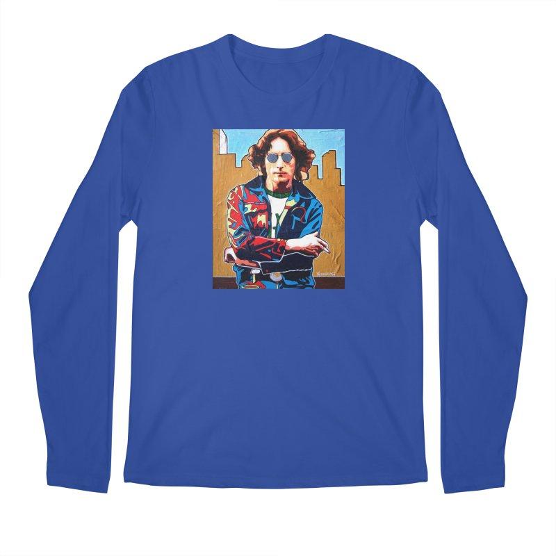 John Lennon by Vlado V Men's Longsleeve T-Shirt by We Wear Art Light