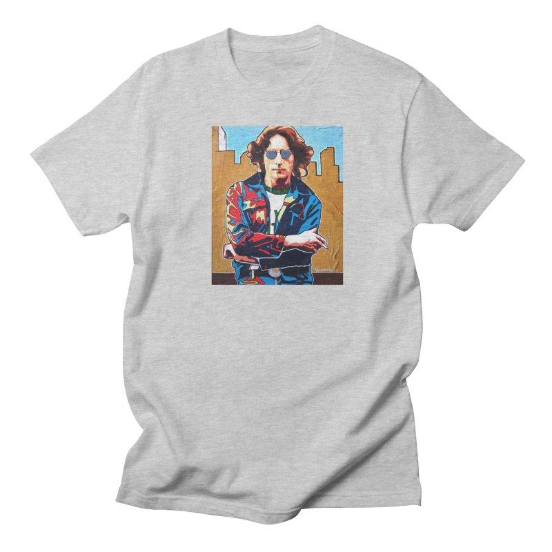 John Lennon by Vlado V Men's Regular T-Shirt by We Wear Art Light