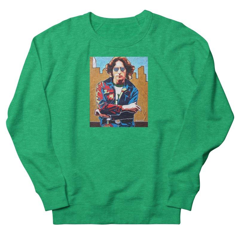 John Lennon by Vlado V Women's Sweatshirt by We Wear Art Light