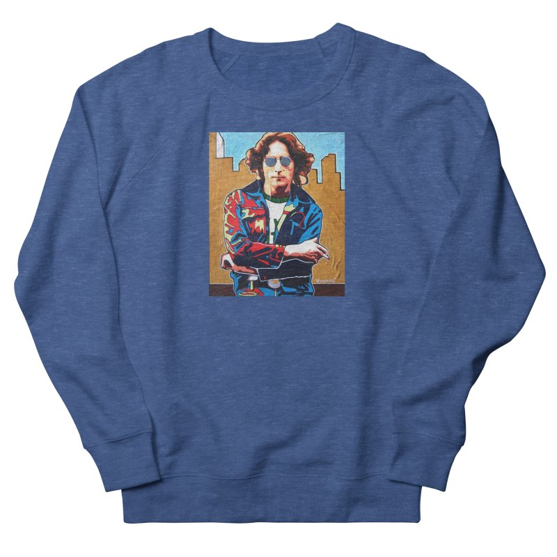 John Lennon by Vlado V Men's Sweatshirt by We Wear Art Light