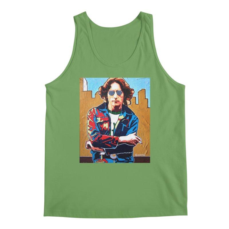 John Lennon by Vlado V Men's Tank by We Wear Art Light