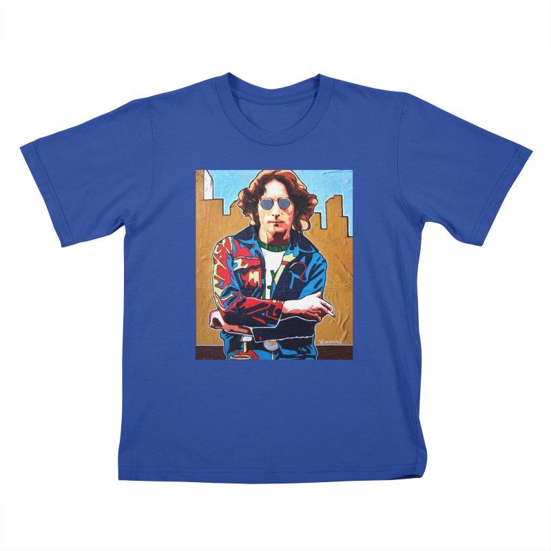 John Lennon by Vlado V Kids T-Shirt by We Wear Art Light