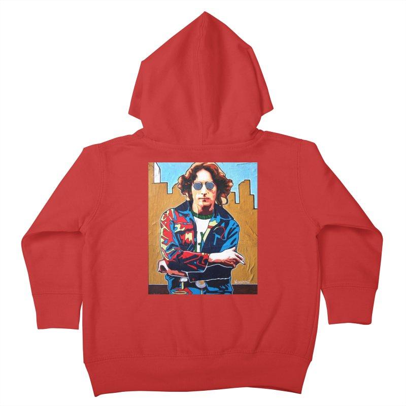 John Lennon by Vlado V Kids Toddler Zip-Up Hoody by We Wear Art Light