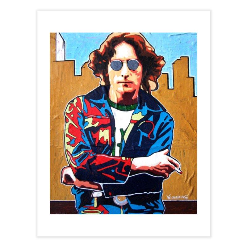 John Lennon by Vlado V Home Fine Art Print by We Wear Art Light