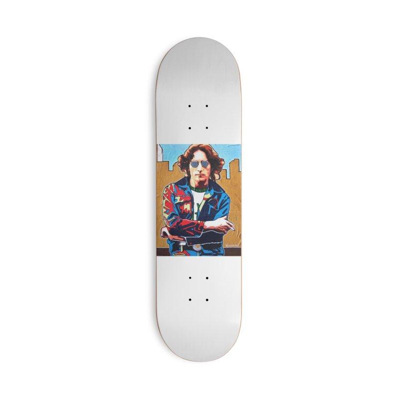 John Lennon by Vlado V Accessories Skateboard by We Wear Art Light