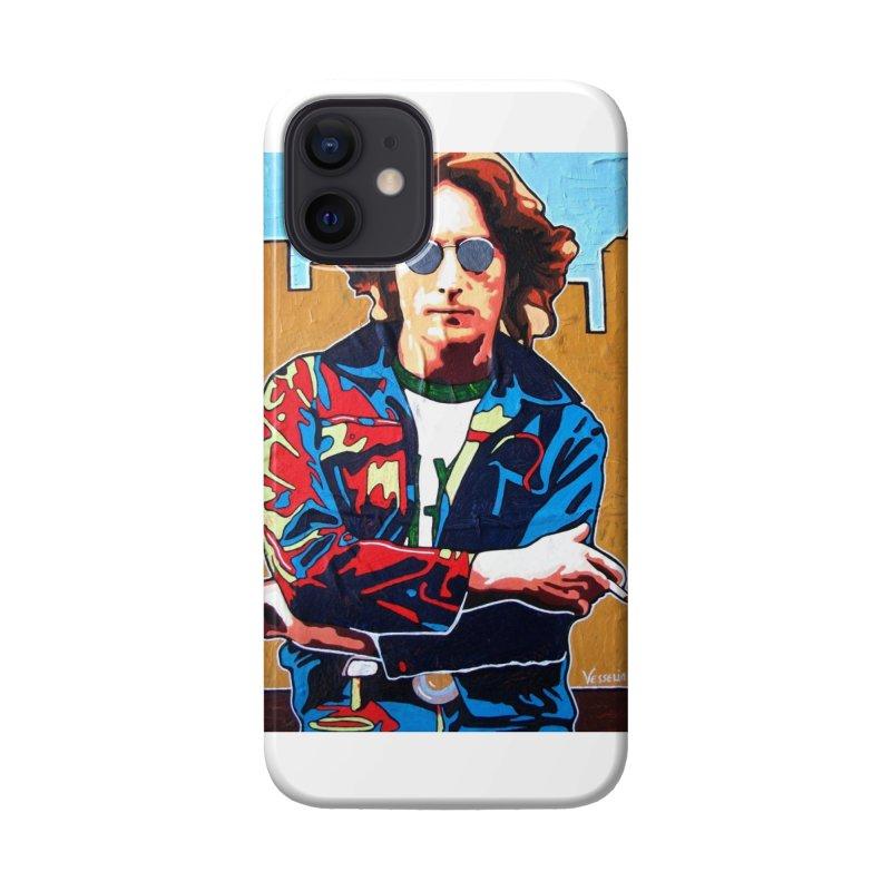 John Lennon by Vlado V Accessories Phone Case by We Wear Art Light