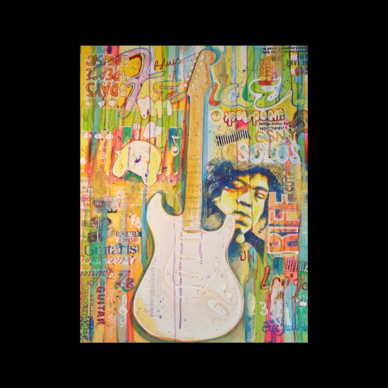 Jimmy Hendrix by Eric B Men's T-Shirt by We Wear Art Light
