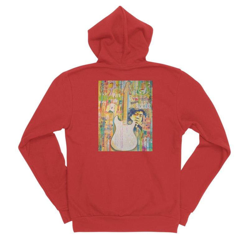 Jimmy Hendrix by Eric B Men's Zip-Up Hoody by We Wear Art Light