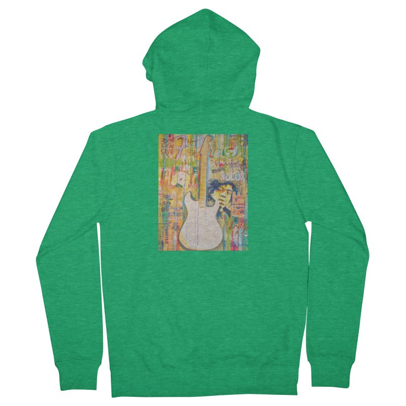 Jimmy Hendrix by Eric B Women's Zip-Up Hoody by We Wear Art Light