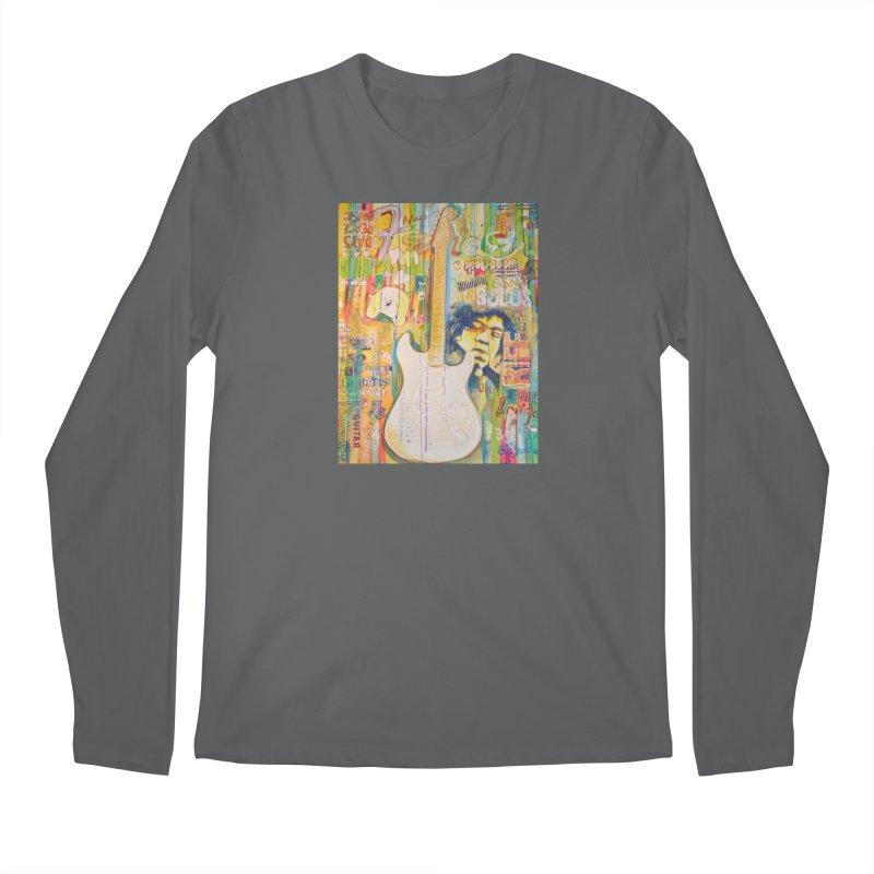 Jimmy Hendrix by Eric B Men's Longsleeve T-Shirt by We Wear Art Light