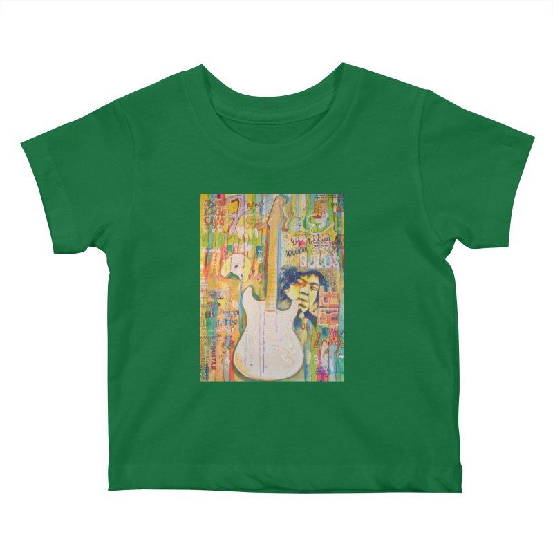 Jimmy Hendrix by Eric B Kids Baby T-Shirt by We Wear Art Light