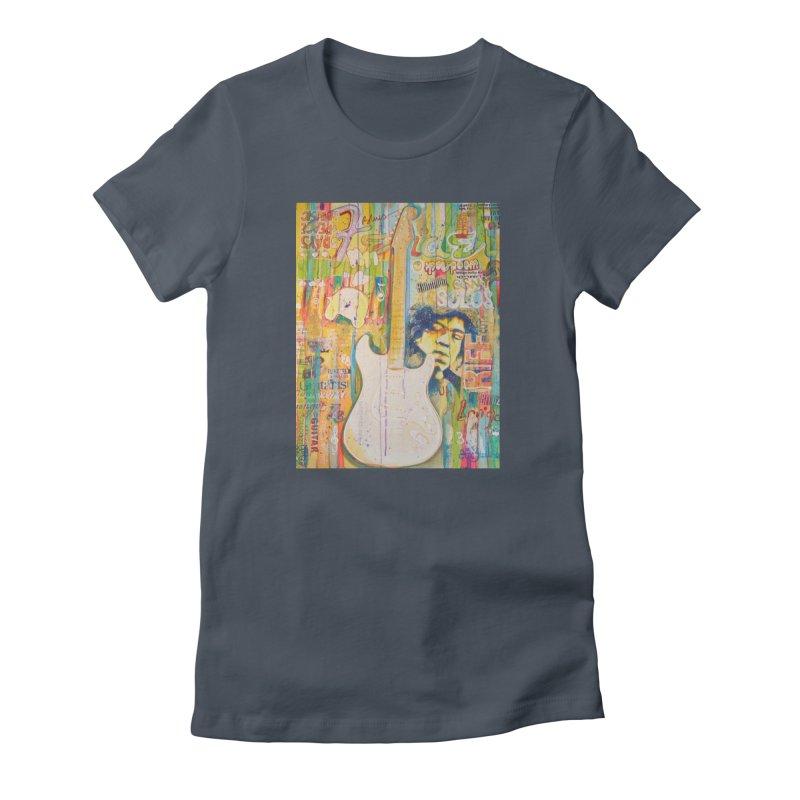 Jimmy Hendrix by Eric B Women's T-Shirt by We Wear Art Light
