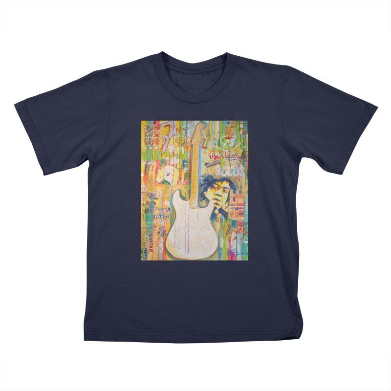 Jimmy Hendrix by Eric B Kids T-Shirt by We Wear Art Light