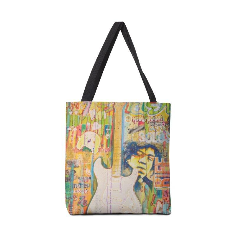 Jimmy Hendrix by Eric B Accessories Bag by We Wear Art Light