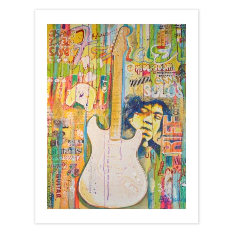 Jimmy Hendrix by Eric B Home Fine Art Print by We Wear Art Light
