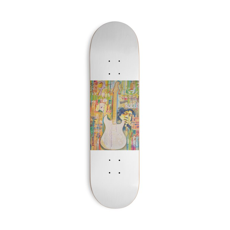 Jimmy Hendrix by Eric B Accessories Skateboard by We Wear Art Light