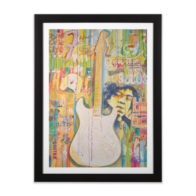 Jimmy Hendrix by Eric B Home Framed Fine Art Print by We Wear Art Light