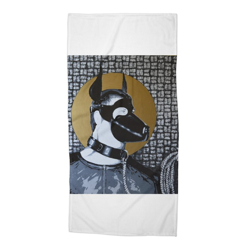 The Mask by Szymon K Accessories Beach Towel by We Wear Art Light