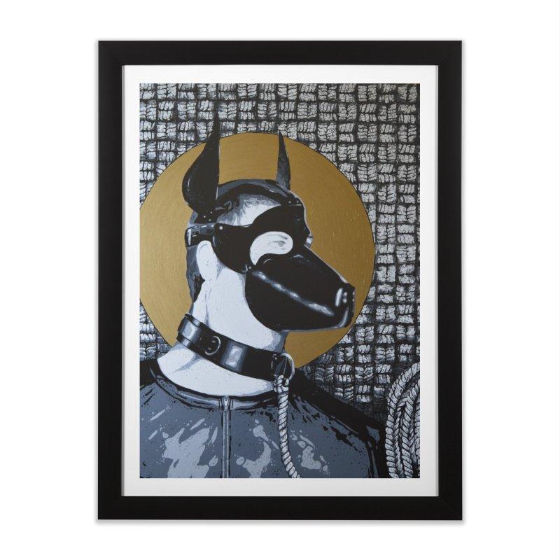 The Mask by Szymon K Home Framed Fine Art Print by We Wear Art Light