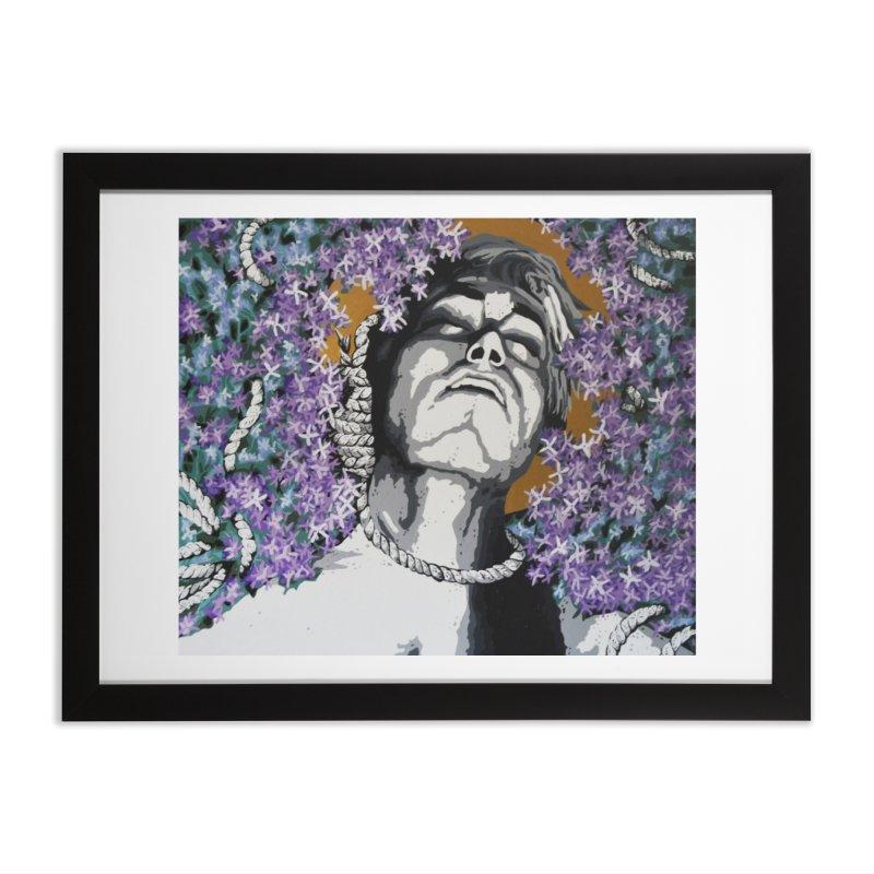 Choking love by Szymon K Home Framed Fine Art Print by We Wear Art Light