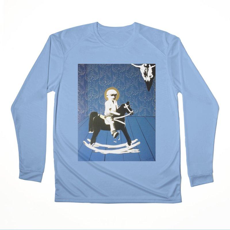 Wood Horse by Szymon K Women's Longsleeve T-Shirt by We Wear Art Light